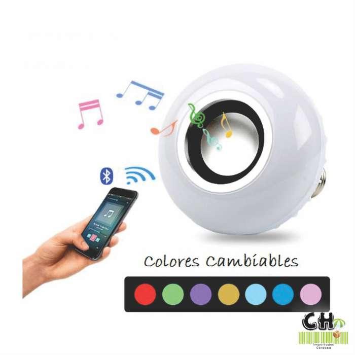 Lampara Bluetooth Parlante 12 W Rgb Con Control Remoto
