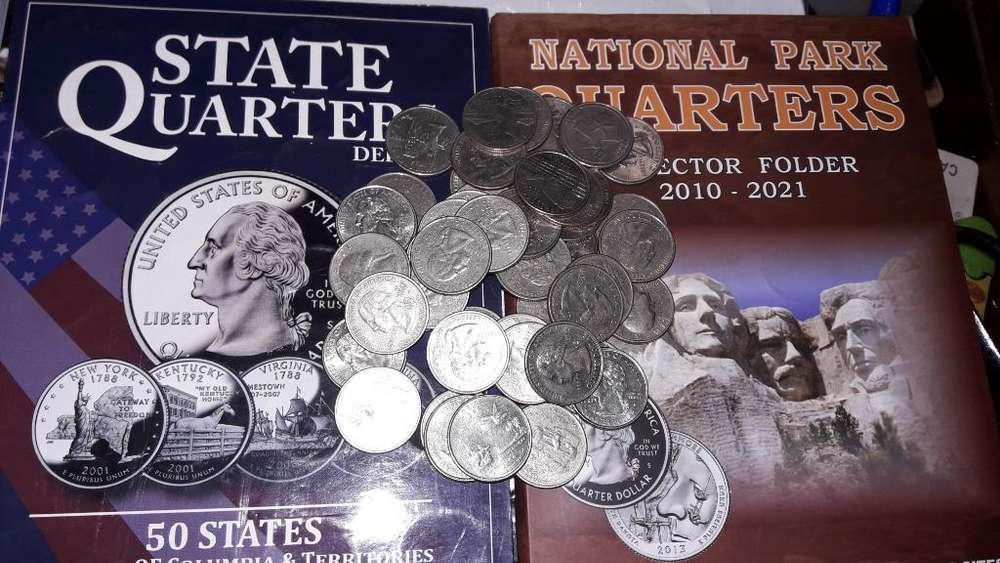 Monedas de 25centv Americanas para Album
