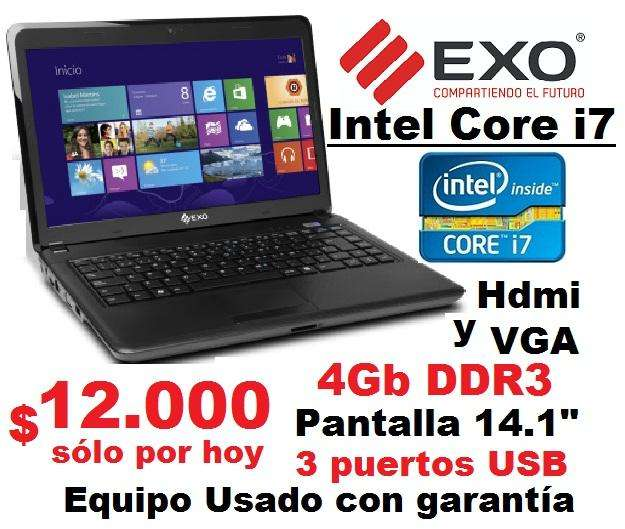 Notebook Core i7 2620M, 4 GB ram, disco 320gb, Hdmi, pantalla 14.1 - Funcionando 10 puntos - en Ramos Mejía