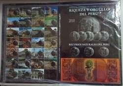 ÁLBUMES DE COLECCIÓN DE LA SERIE NUMISMÁTICA RIQUEZA Y ORGULLO DEL PERÚ Y RECURSOS NATURALES DEL PERÚ