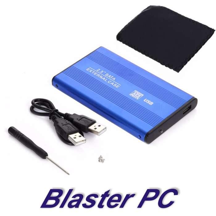 Carry Disk Aluminio 2.5 Usb 3.0 Slim Funda Cable Usb Zona Alto Rosario BLASTER PC