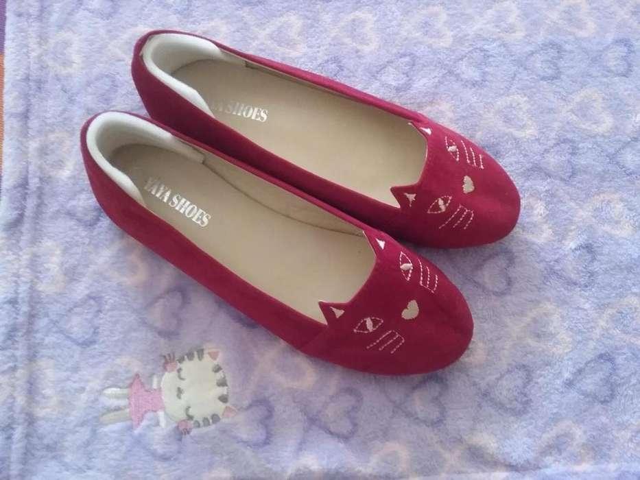 Zapatos de gato color rojo Talla 38 para Mujer Nuevos Bajos