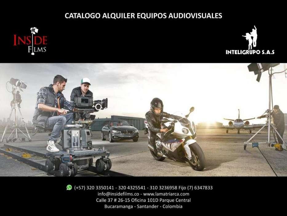 30% EN ALQUILER EQUIPOS AUDIOVISUALES, CINE Y FOTOGRAFÍA