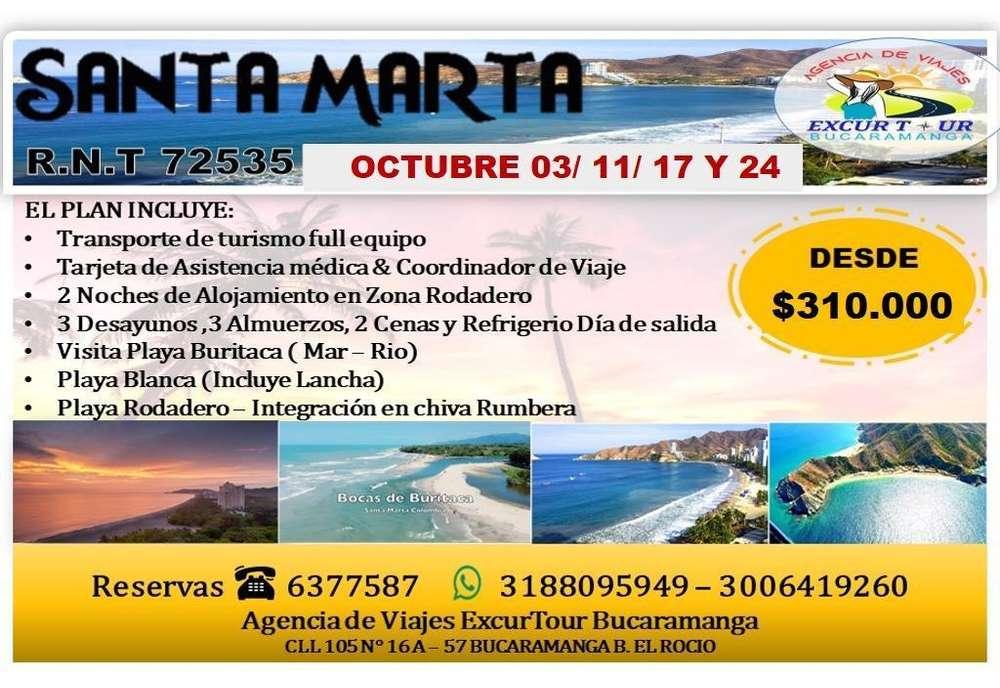 Tour Santa Marta Octubre