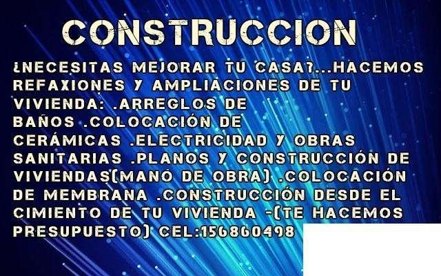 CONSTRUCCIÓN!!!MAESTRO MAYOR DE OBRA.