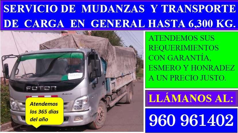 servicio de traslado de carga, materiales y mudanzas