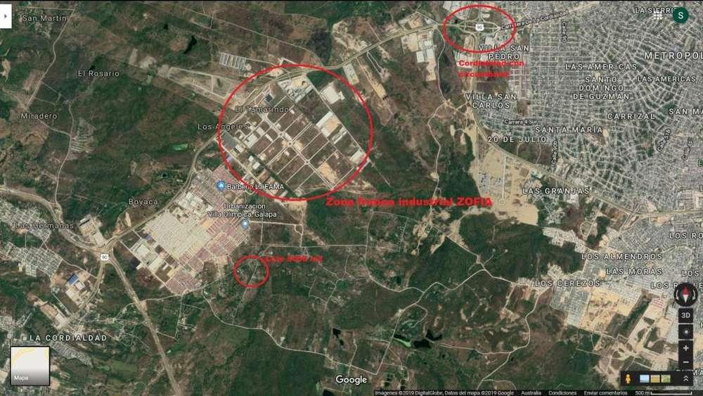 LOTE 5000 m2 UBICADO ZONA FRANCA INDUSTRIAL ZOFIA BARRANQUILLA-GALAPA