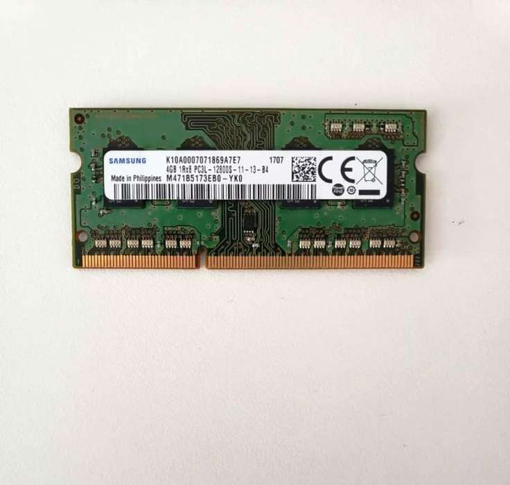<strong>memoria</strong> SODIMM Samsung DDR3 4GB Notebook 1600mhz