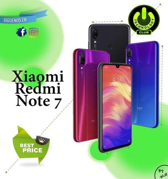 0602dab6ddc Version 2019 Redmi Note 7 Xiaomi 48 Megapixeles reales Celulares sellados  Garantia 12 Meses