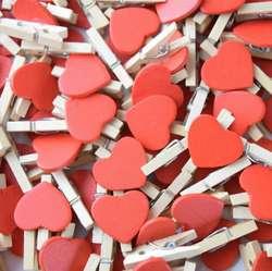Mini Ganchos Decorativos con Corazón