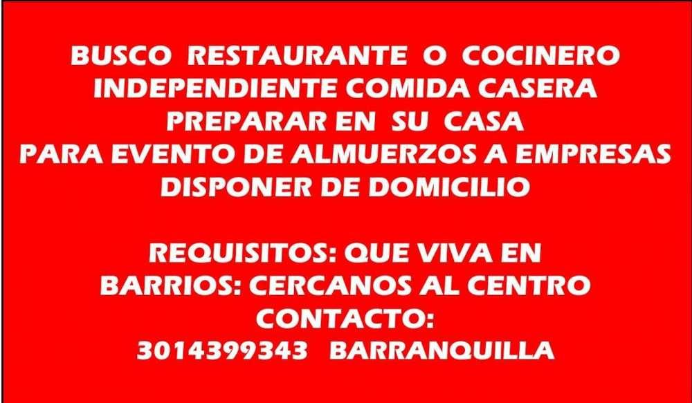 BUSCO COCINEROS INDEPENDIENTE O RESTAURANTES CERCA AL CENTRO