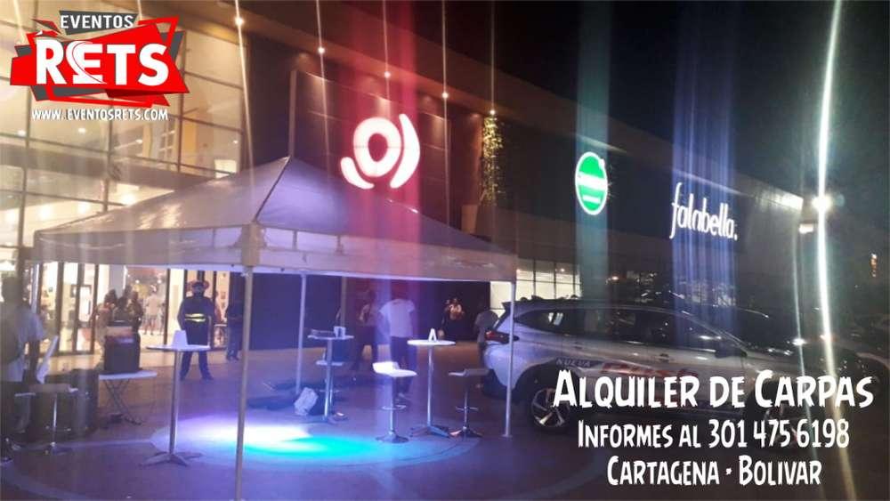 Carpas Desarmables para alquiler en Cartagena