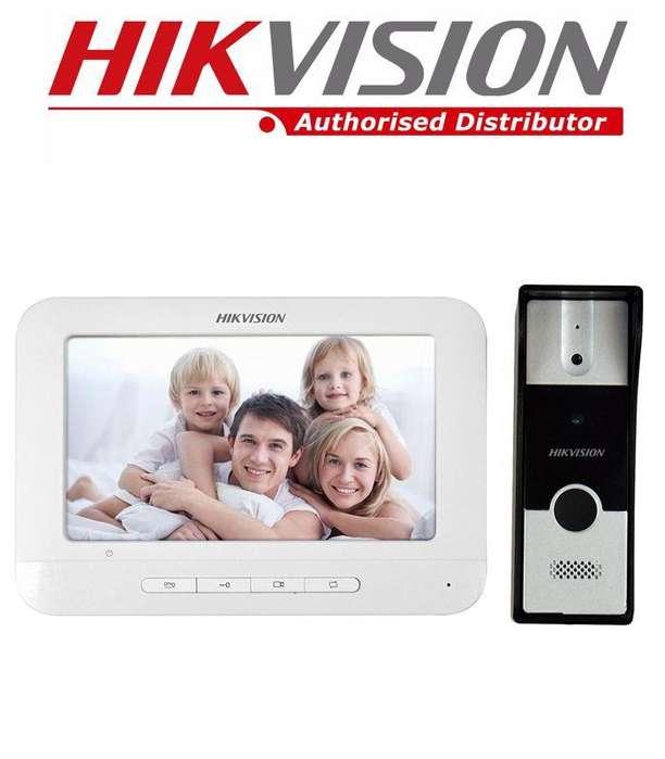 Video Portero Electrico Citofono Hd Hikvision Con Camara intercomunicador IP audio video casa oficina