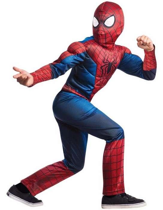 Disfraz Spiderman musculos Hombre Araña NIÑOS Marvel Halloween