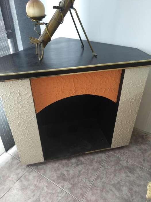 Mueble para chimenea