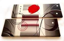 Cuadros artesanales unicos pintados a mano en acrilico y oleo tripticos polipticos modernos abstractos decorativos