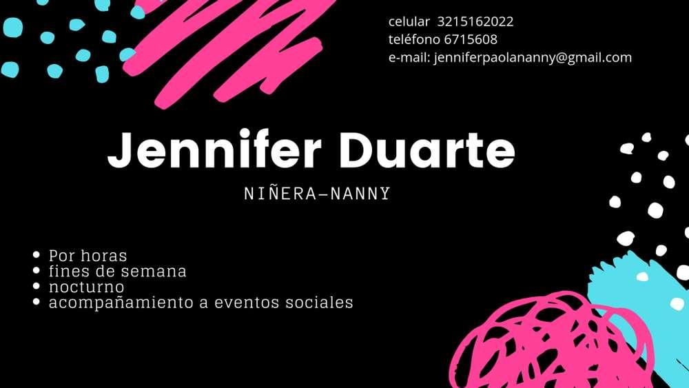Niñera por horas Jennifer Duarte Villavicencio