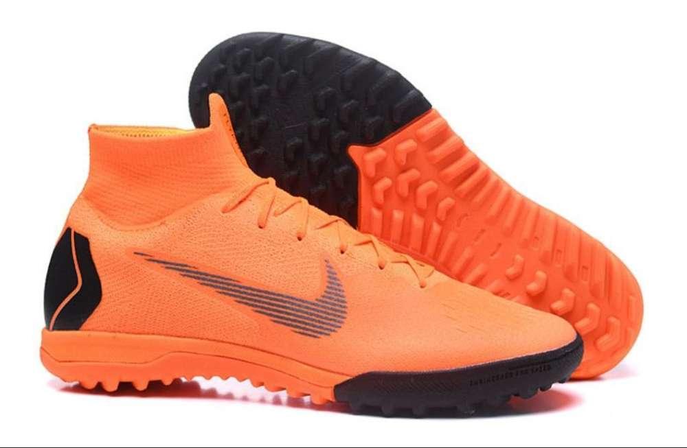 Guayos Nike Y Adidas Sintetica Importado