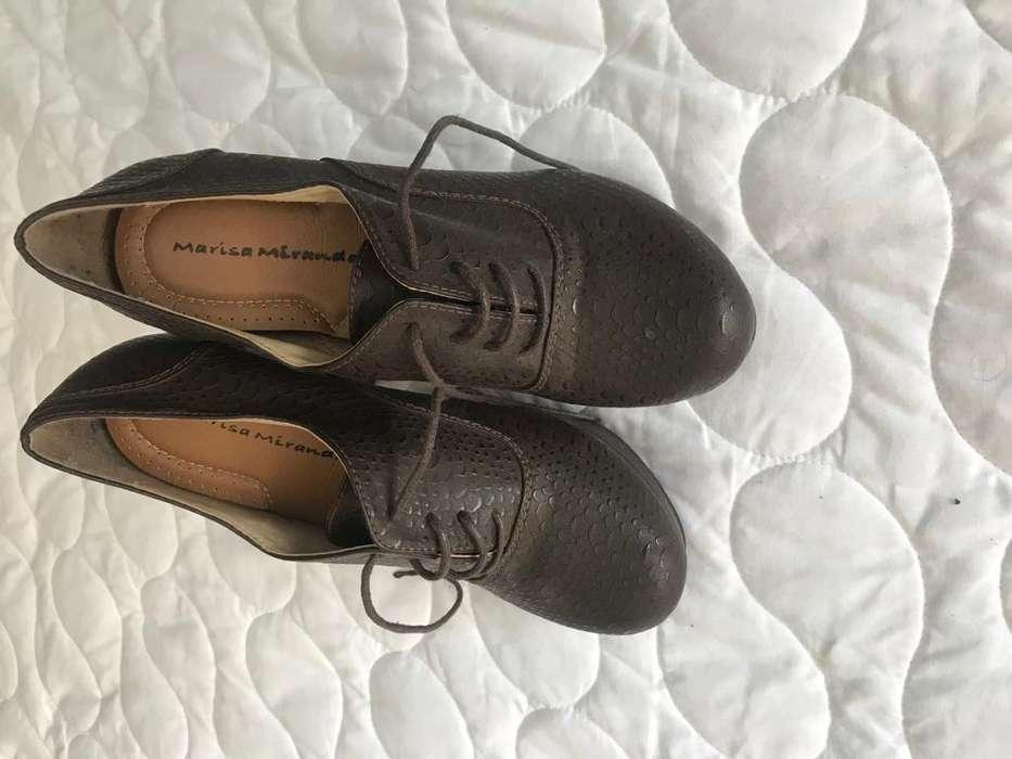 Zapatos Marisa Miranda de taco color café talla 37 seminuevos