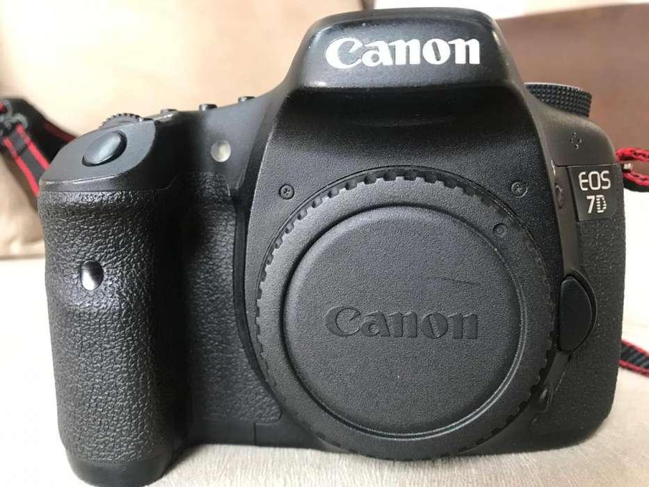 CANON EOS 7D Camara Digital Estuche 3 Lentes Sd Card FULL FRAME
