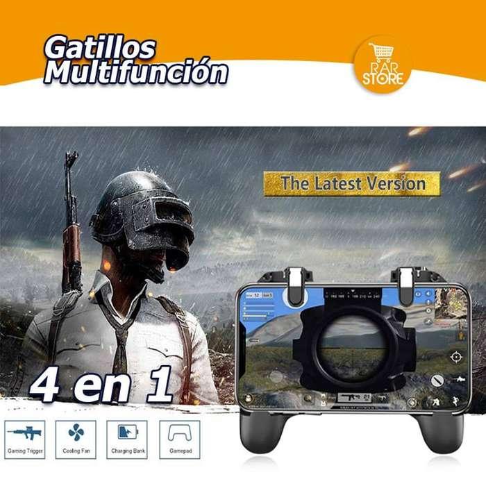 Gatillos Multifunción 4 en 1 Compatible con: Fornite, Free Fire, PUBG, etc.