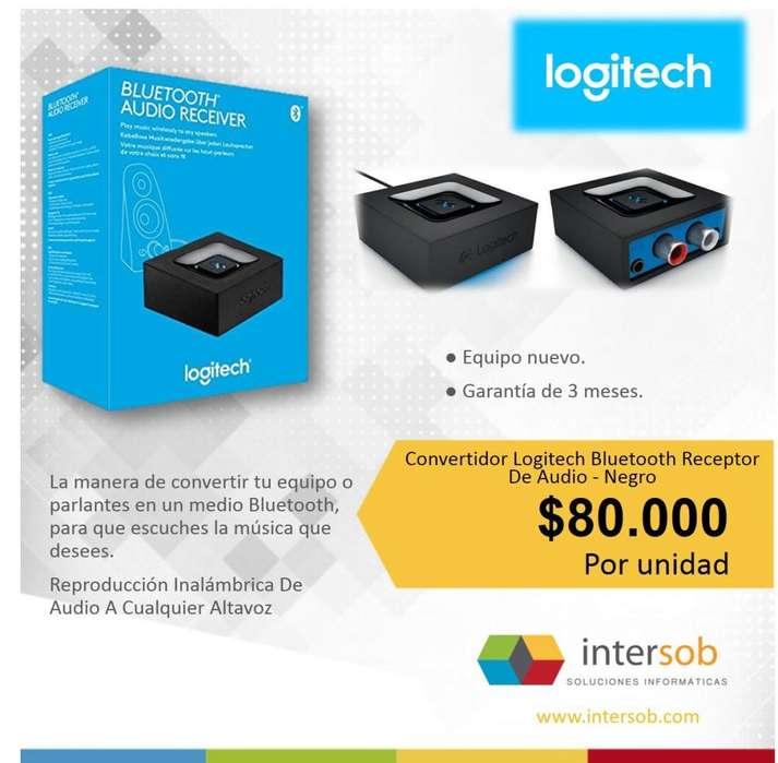 Convertidor Logitech Bluetooth Receptor De Audio Negro