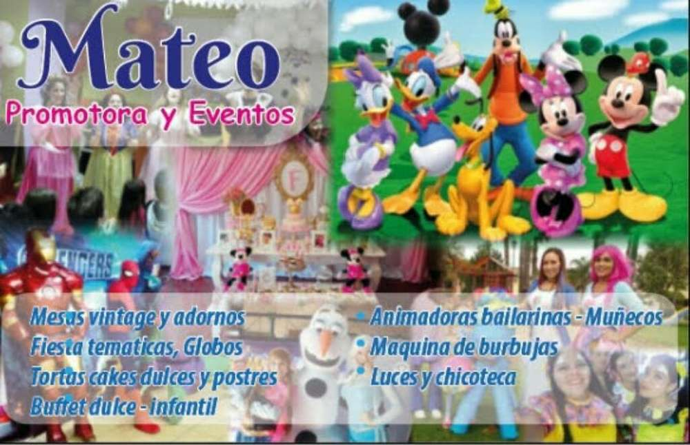 Mateo Promotora Y Eventos Show Infantil