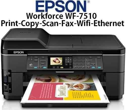 IMPRESORA FORMATO A3: Epson WorkForce WF7510 WIFI escan ADF Sistema de tinta continua con detalle