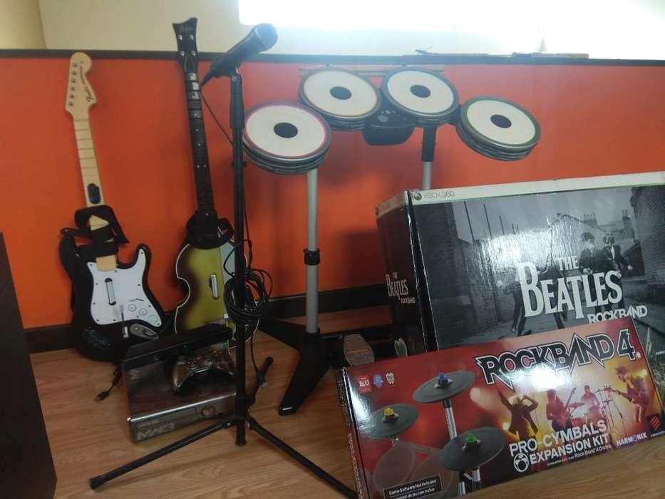 Xbox 360 Rockband Guitar Hero
