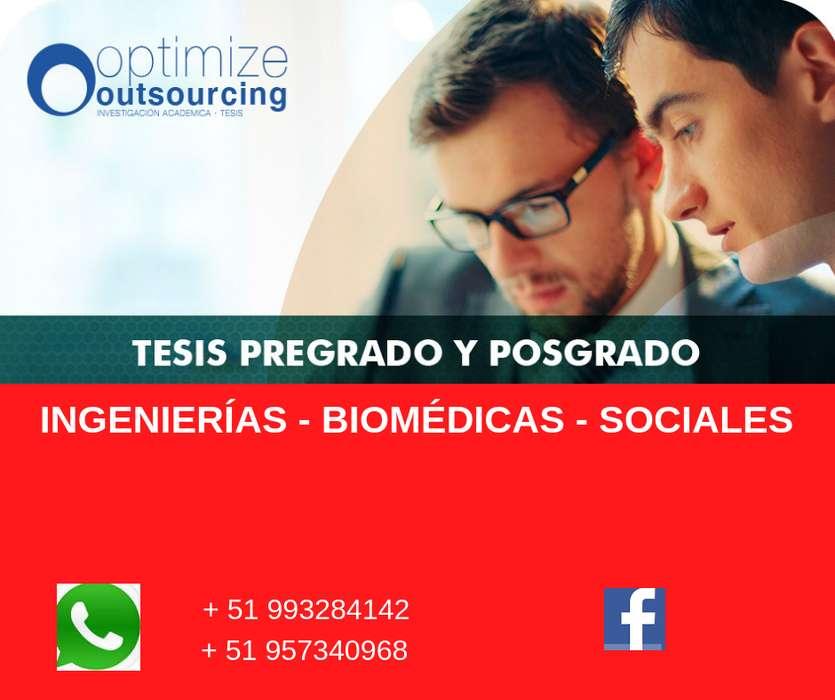 ASESORÍA DE TESIS - INGENIERÍAS, BIOMÉDICAS, SOCIALES - 991197636