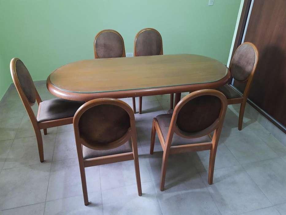 Juego de mesa y 6 <strong>silla</strong>s estilo francés
