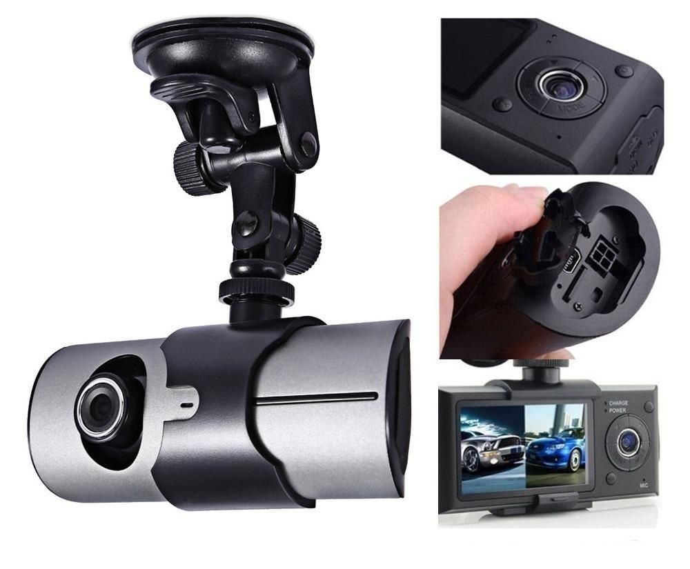 Camara Dvr R300 Doble Lente Para Carro Full Hd Sensor Y Gps
