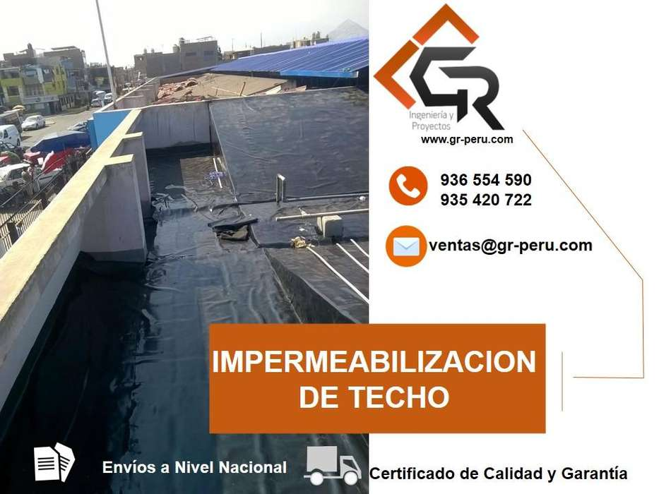 IMPERMEABILIZACION DE TECHOS , AZOTEAS , PISOS , TANQUES CON GEOMEMBRANA HDPE 936554590