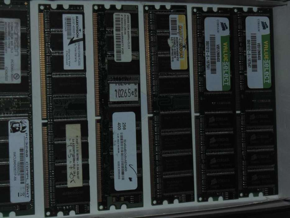 Memorias RAM DDR 400 512 MB. entrega personalizada
