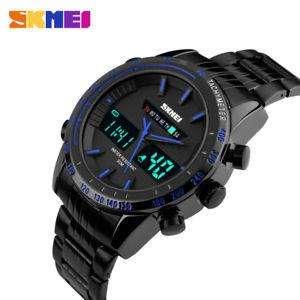 Reloj de Pulsera para hombres Skemei Impermeable, Completo Acero Cuarzo, Analógico Digital LED, Deportivo