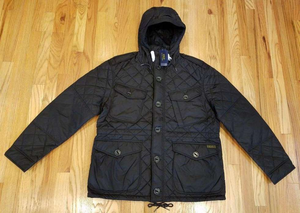 Chompa Polo Ralph Lauren Quilted Hood /negra Large. 395.