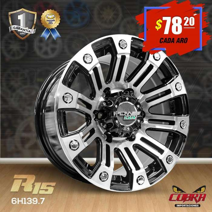 Aros Rin 15 Toyota Hilux 4x2 Ford Ranger Ford Explorer Jeep_2