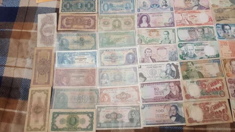 Coleccion Billetes Viejos Y Antiguos