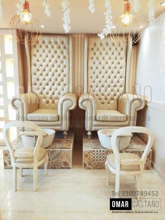 Muebles para spa de uñas salas de belleza y peluqueria