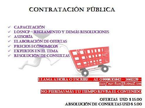 ELABORACIÓN DE OFERTAS PROCESOS DE CONTRATACIÓN PÚBLICA