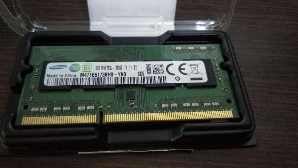 <strong>memoria</strong> Ram 4gb Samsung Ddr3 So-dimm 204pin Pc3l-12800s 1600