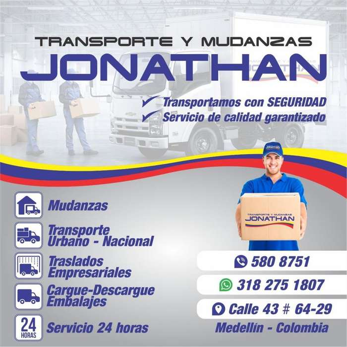 transportes y mudanzas jonathan 3052597480