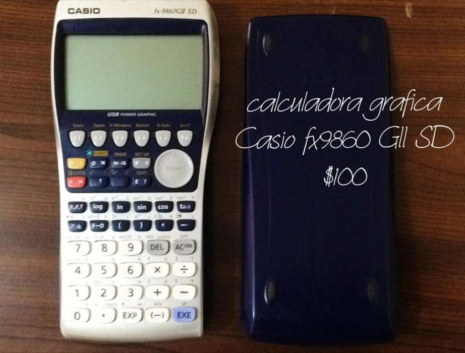 <strong>calculadora</strong> CASIO FX 9860 GII SD