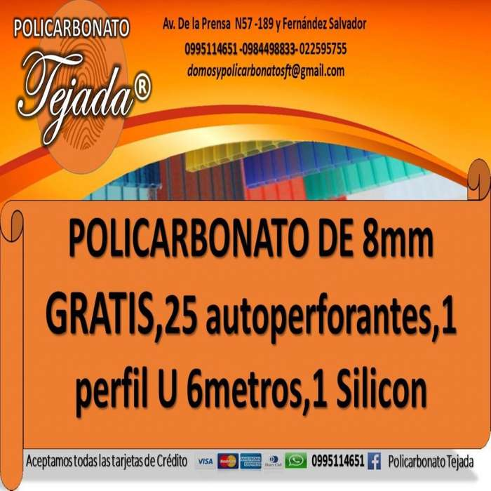 GRATIS 25 -AUTOPERFORANTES,1PERFIL U DE 6MTS, 1 SILICON LIQUIDO