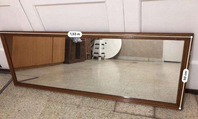 Vendo Espejo Marco de Madera Teñida