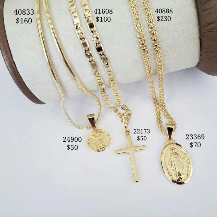 Cadenas en Oro Laminado 18k