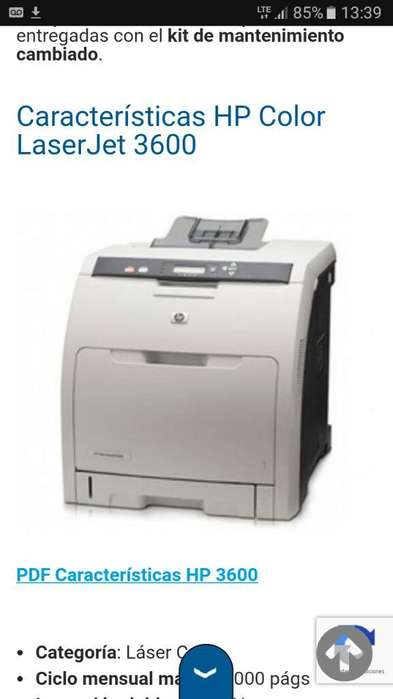 Impresora Laser Color Hp 3600 Dn
