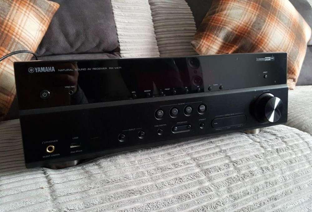 amplificador YAMAHA de 5.1 canales de 500 vatios con HDMI