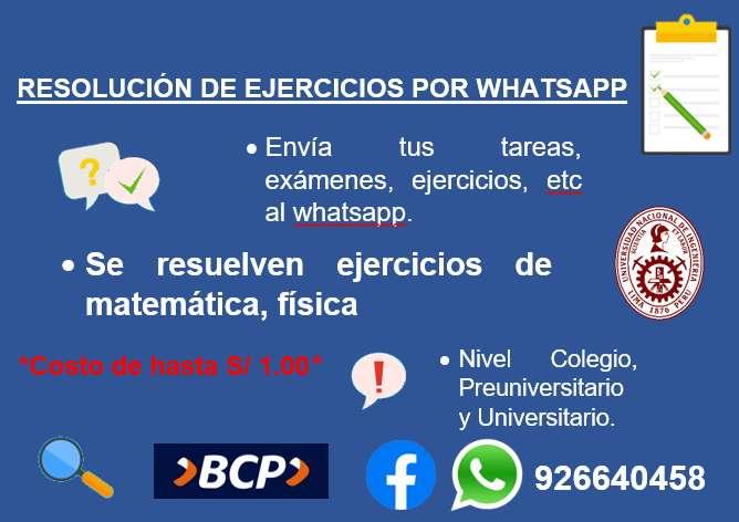 RESOLUCIÓN DE EJERCICIOS , TRABAJOS MATEMÁTICAS,FÍSICA