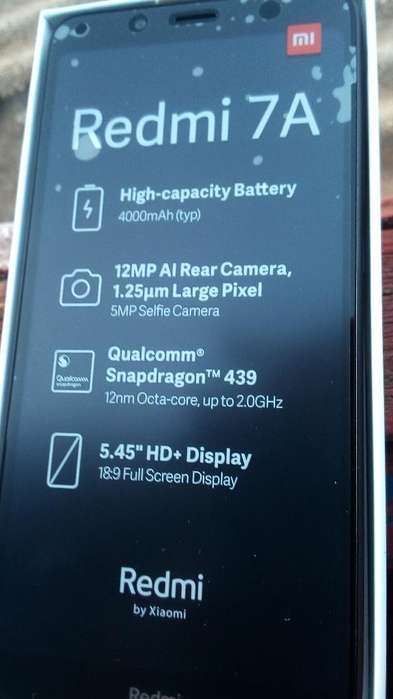 Vendo Xiaomi Redmi 7a Nuevo en Caja
